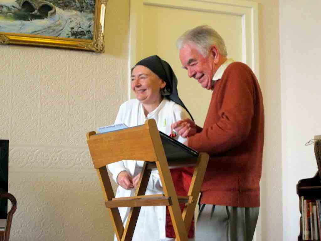 Sr Margaret and Neil Curry