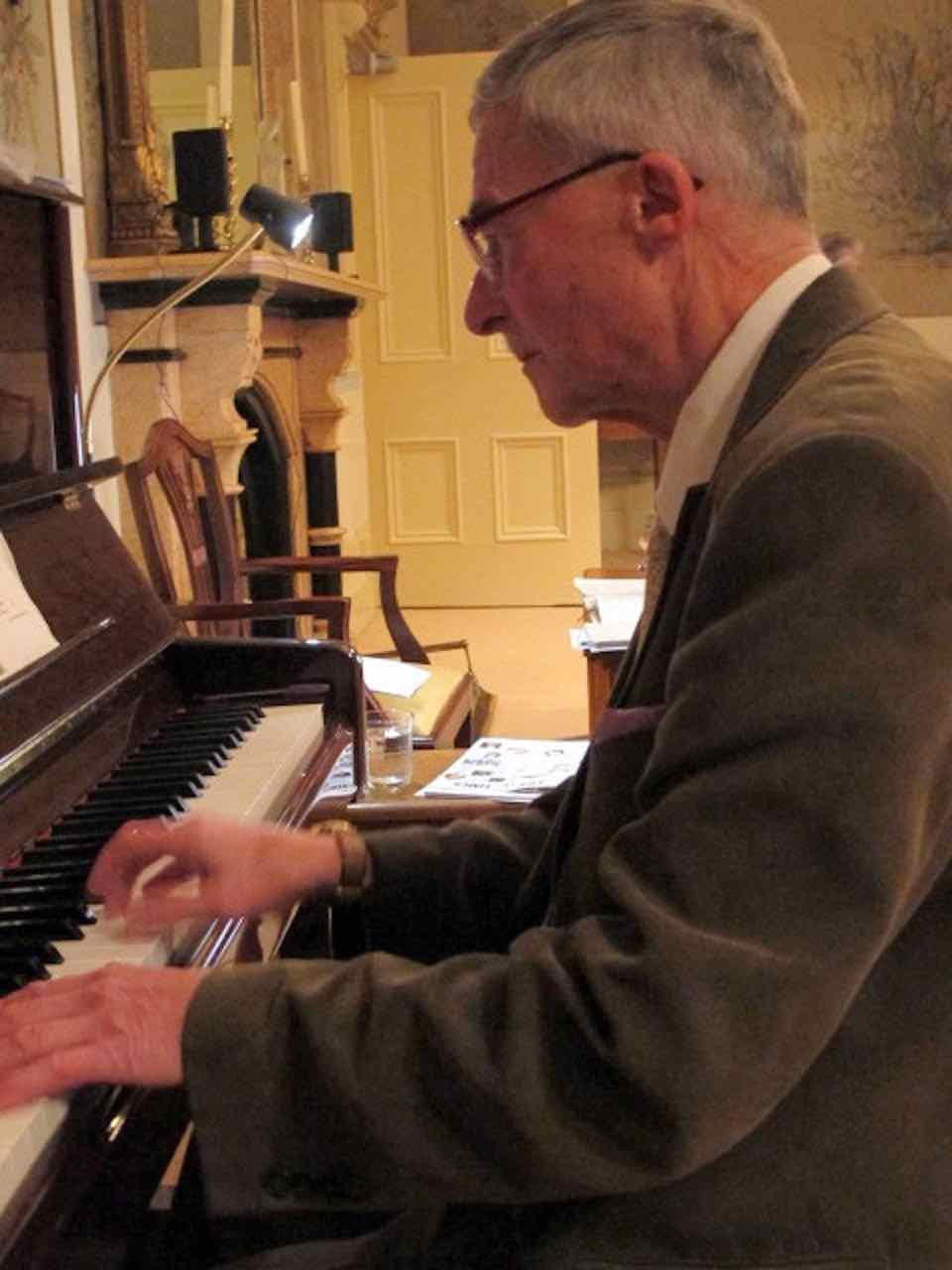 Haydn Lee at the piano