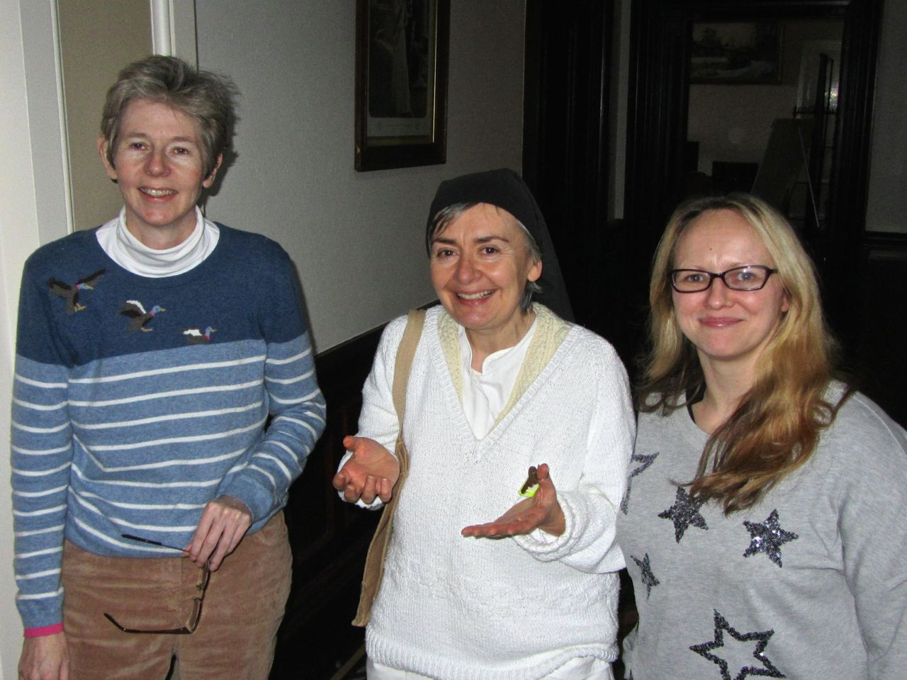 Liz, Sister Margaret and Trish