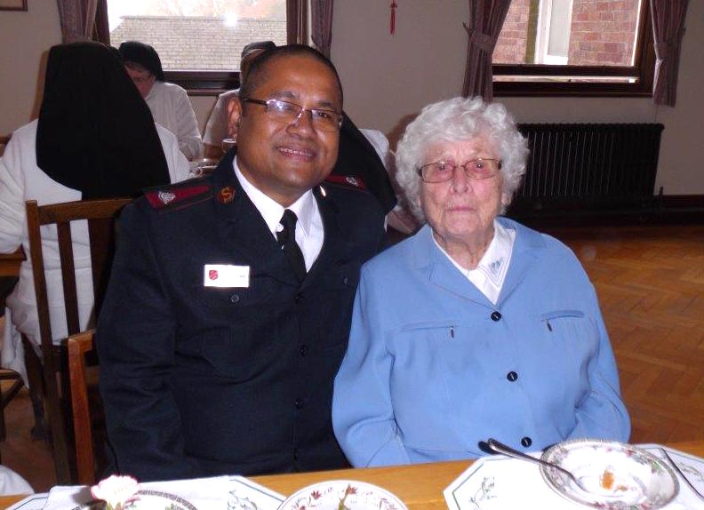 Major John with friend Doris