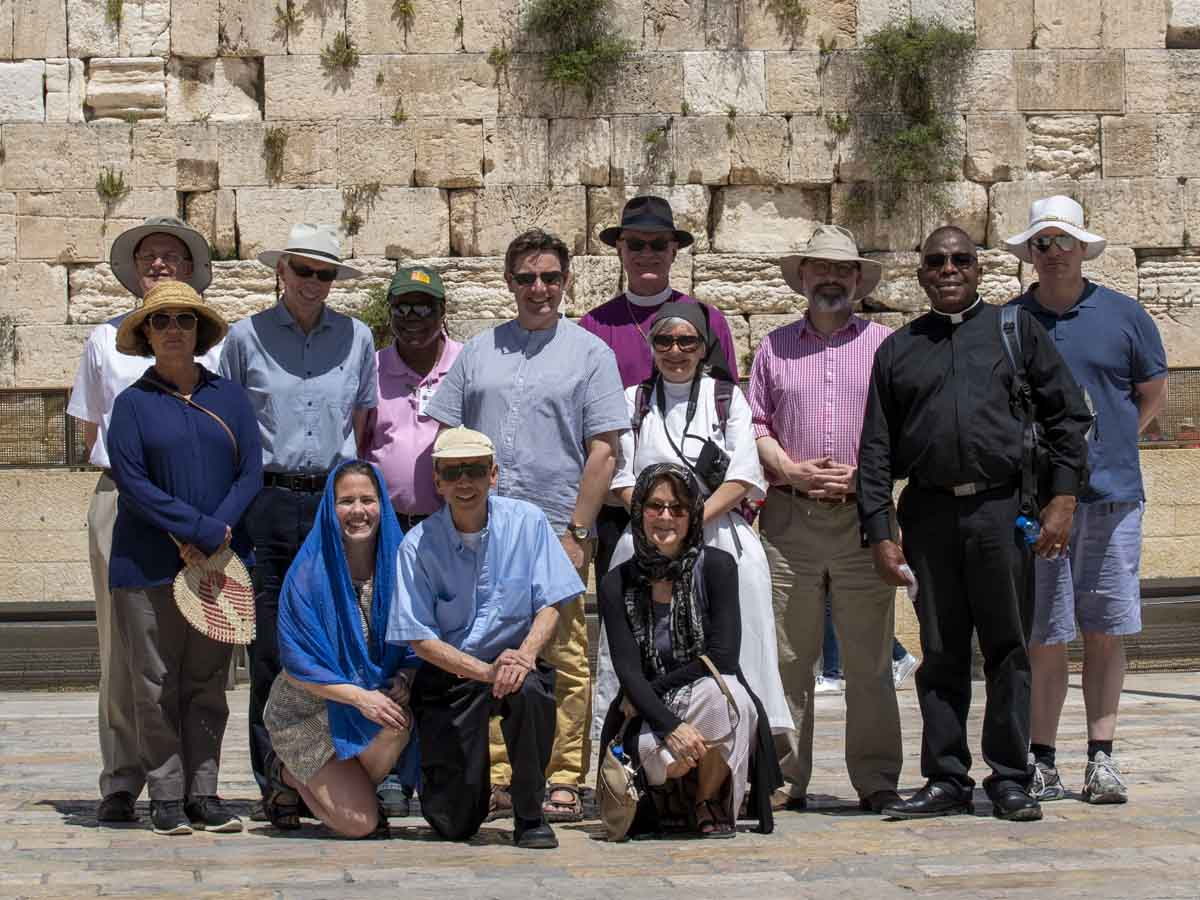 ARCIC group at the Western Wall, Jerusalem
