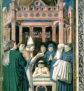 'Augustine's Baptism' - San Gimignano, Church of St Augustine