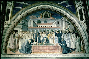 The death of Augustine - San Gimignano